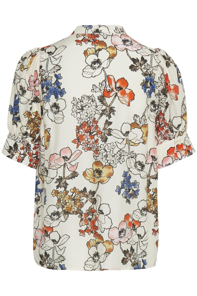 Part Two Dona Cream Floral Print Blouse