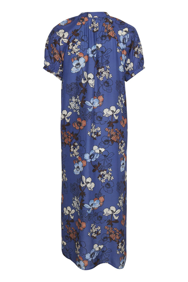 Part Two Diara Blue Floral Print Dress
