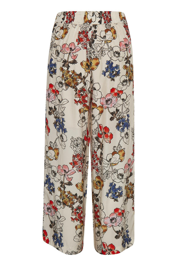 Part Two Damaris Cream Floral Print Trouser