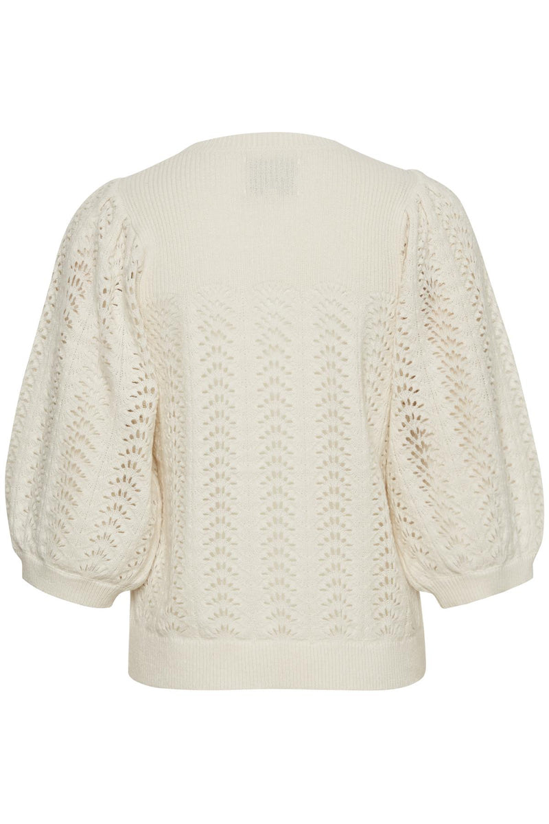 Part Two Enny Lacey Knit Sweater in Cream