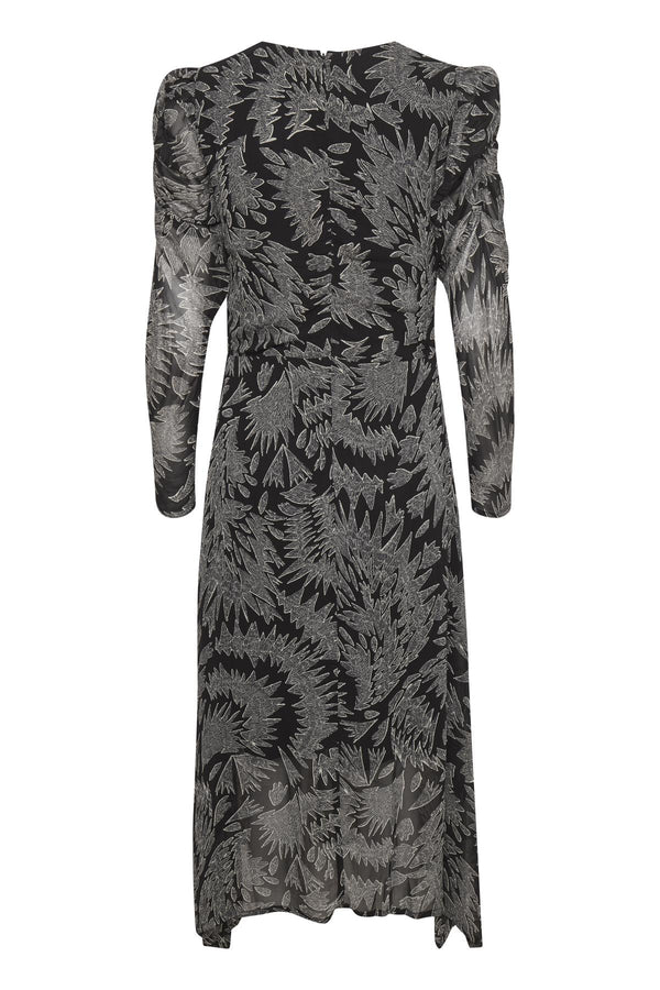 Esja Leaf Print Ruched Dress