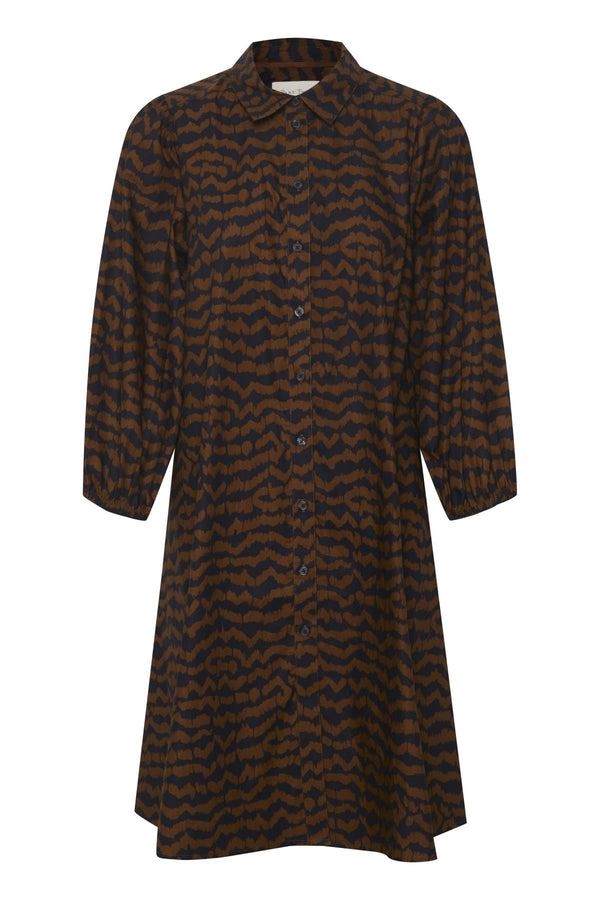 Part Two Eleina Cotton Ikat Print Shirt Dress