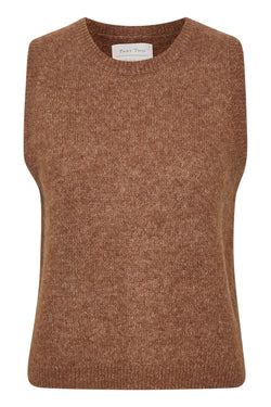 Part Two Eyja Hazel Brown Knitted Vest