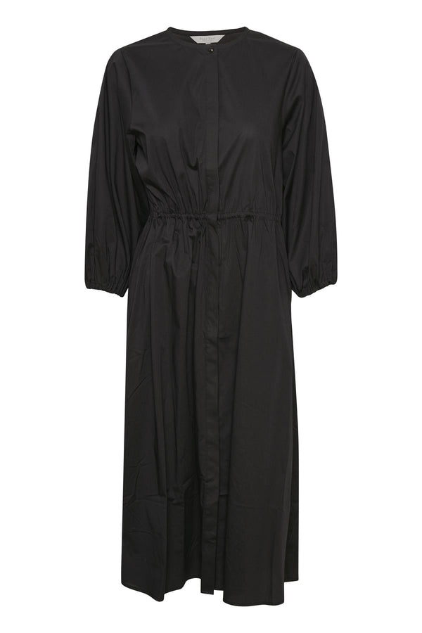 Part Two Emalia organic cotton midi dress in black