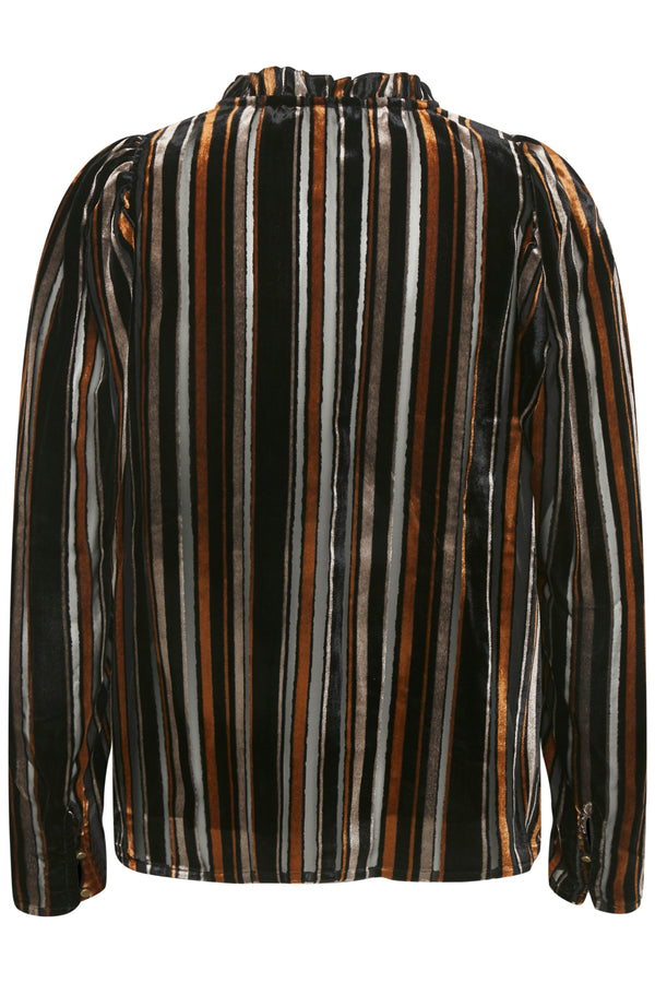 Part Two Fuia Velvet stripe blouse