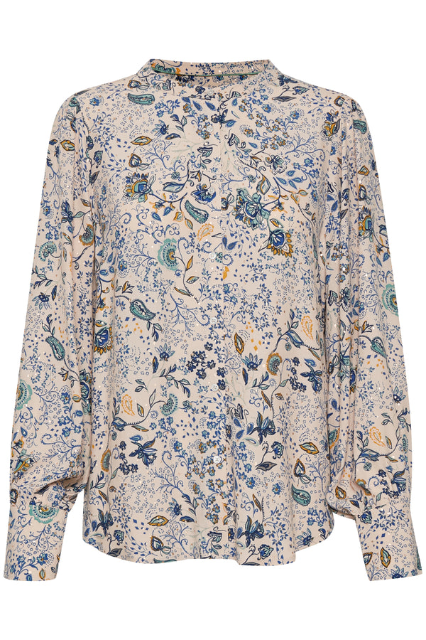 Part Two Hannelene Paisley Floral Blouse in Grey