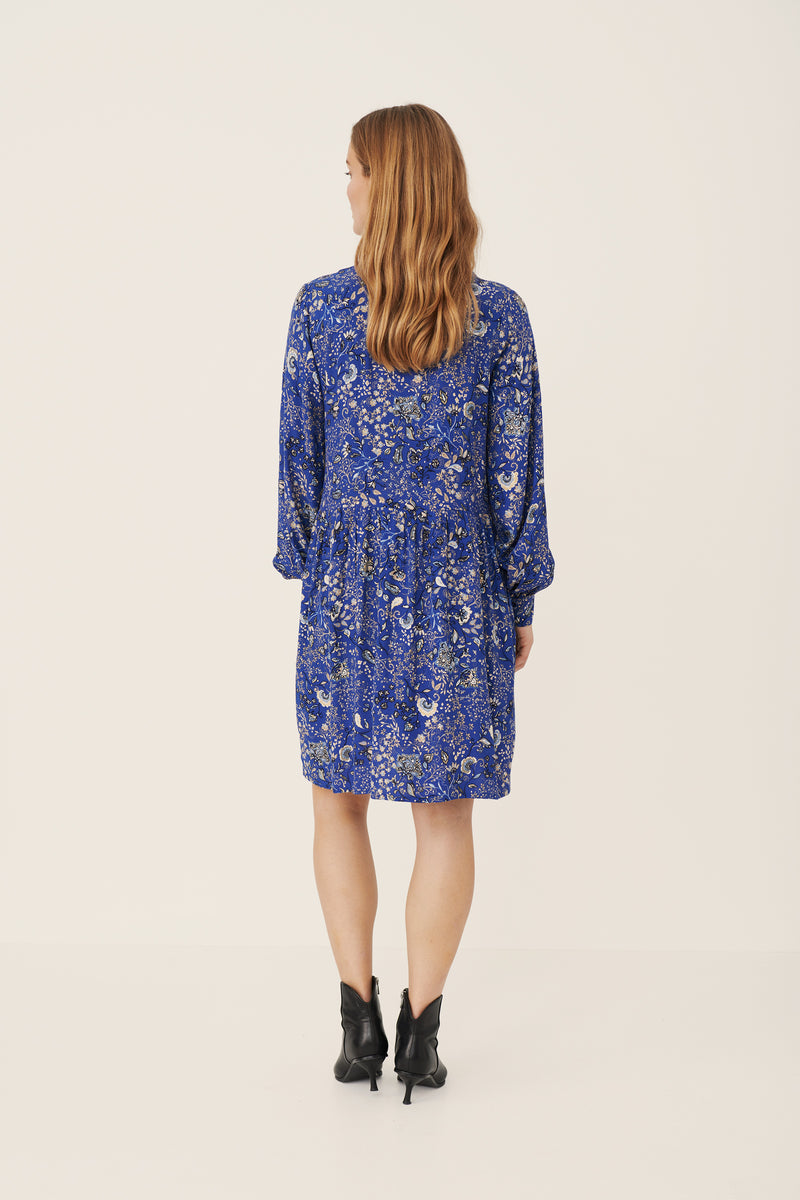 Part Two Gosia Paisley Floral Dress in Blue