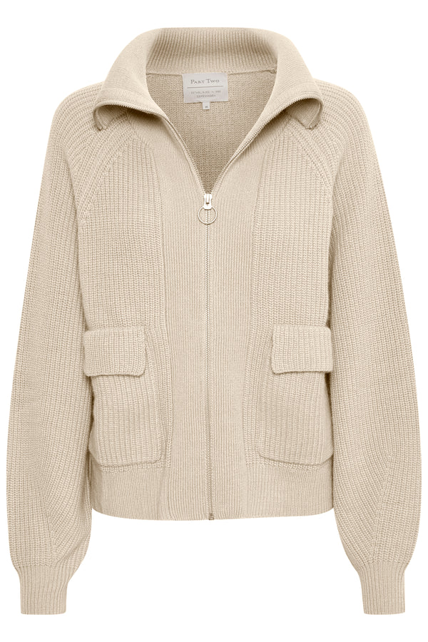Part Two Hang Knitted Jacket in Cream