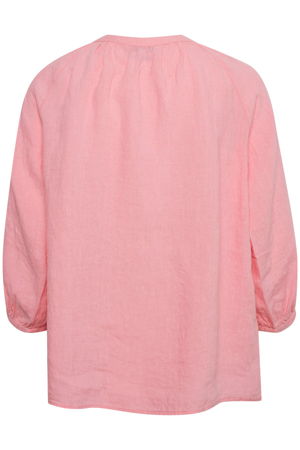 Part Two Hikma Blouse in Pink Linen