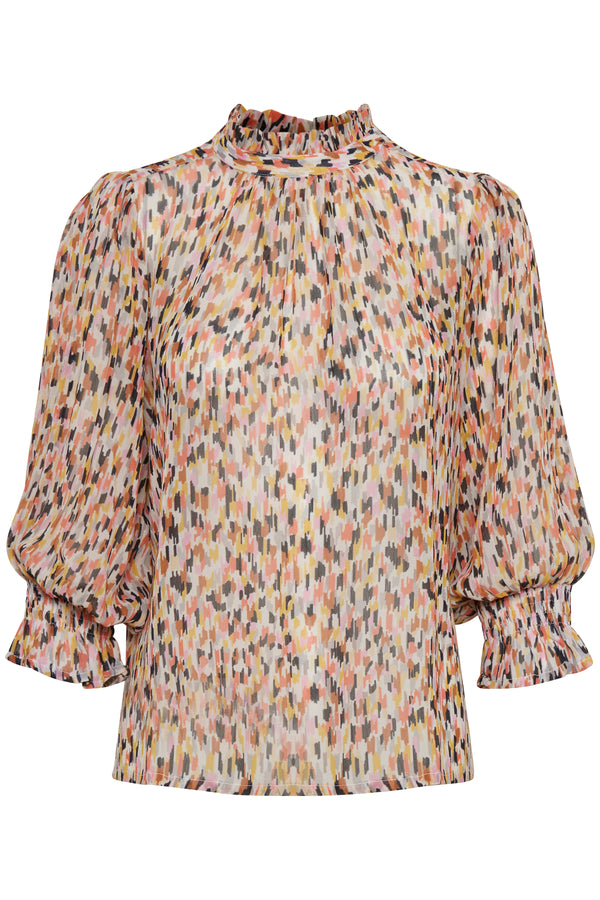 Part Two Hoas Dot Print Blouse in Multi
