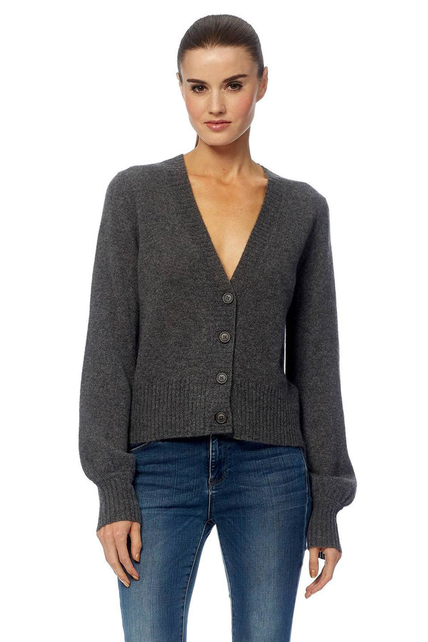 360 Cashmere Kendall V-neck button down cardigan from the Rocky Barnes + 360 Cashmere collaboration
