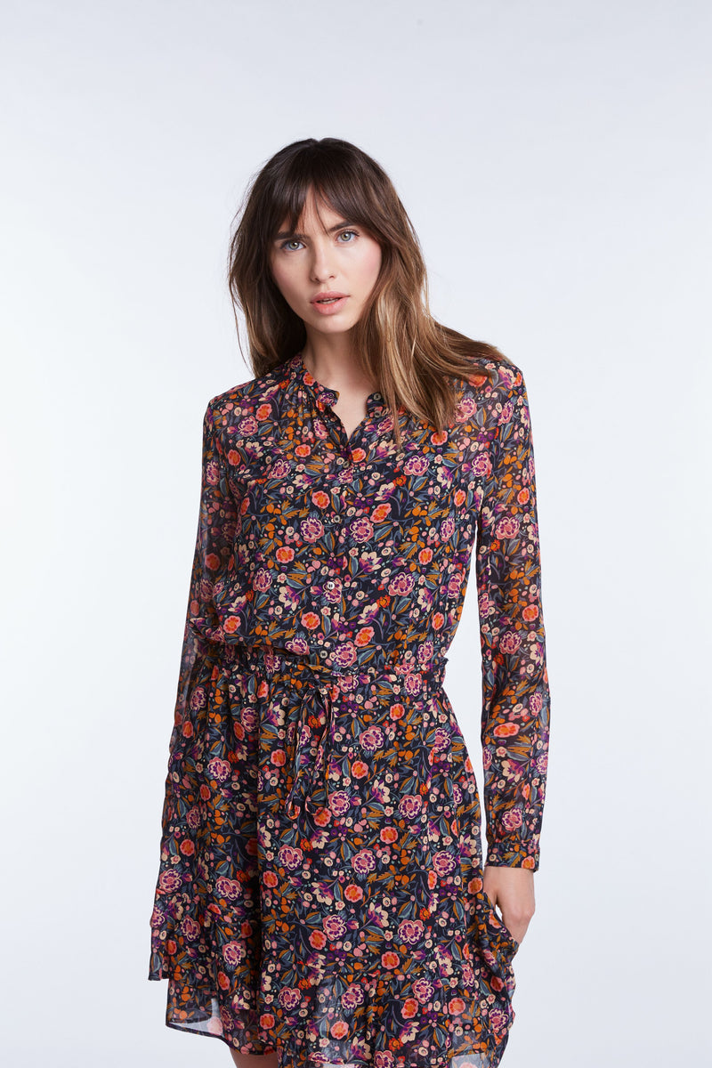 Set Floral Violet Blouse