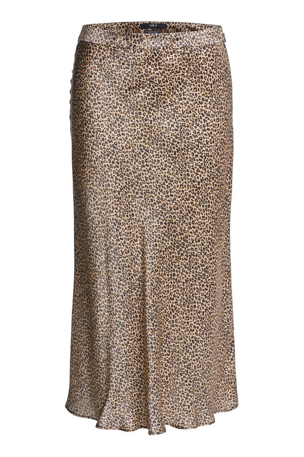 Set Animal Print Bias Skirt