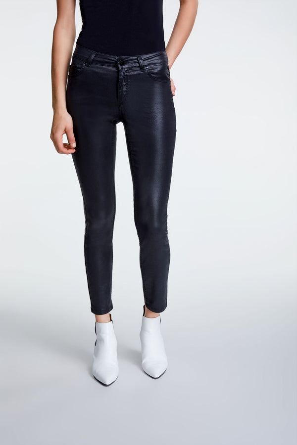 Set Skinny Coated Jeans