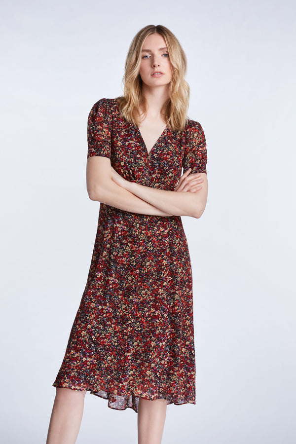 Set Midi Dress in Millefleurs Print