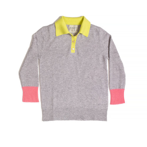 Jumper 1234 contrast cashmere polo shirt sweater