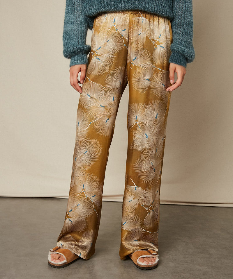 Hartford Plaisance Japanese Print silk blend trouser