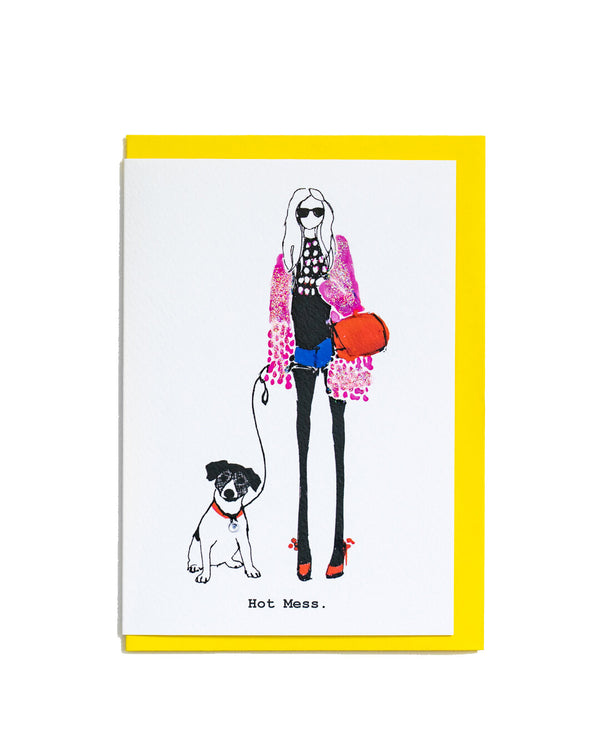 Hot Mess Greetings Card