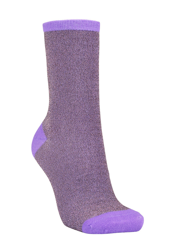 Dina Purple Sparkly Sock
