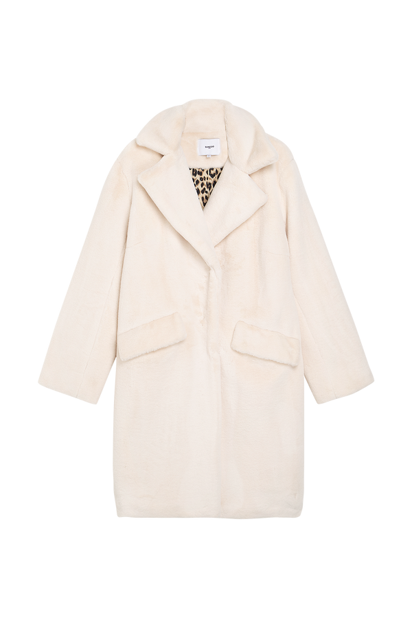 Suncoo Eddie Faux Fur Coat