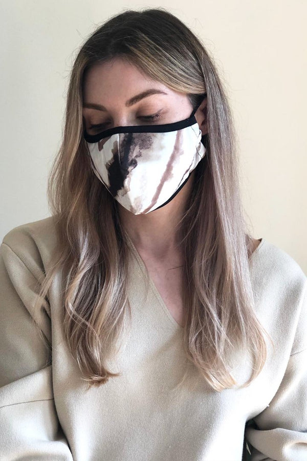 Organic Cotton Face Mask in Tideline Print