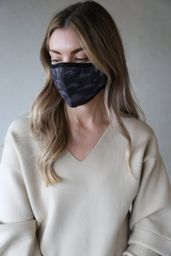 Organic Cotton Face Mask in Echo Print
