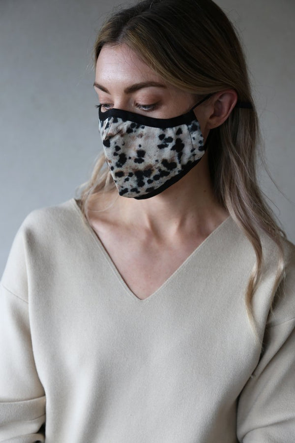 Organic Cotton Face Mask in Jasper Print