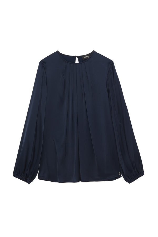 Ottodame Blue Satin Top