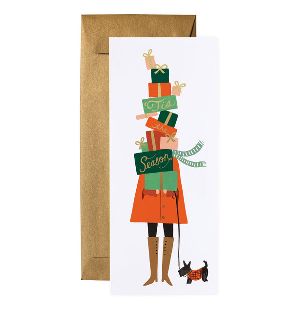 Rifle Paper Co Season of Giving Tall Christmas Card