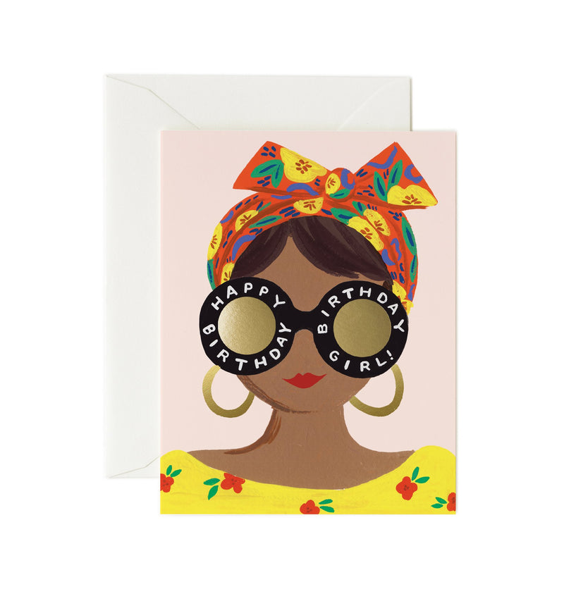 Rifle Paper Co Scarf BIrthday Girl Card