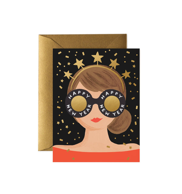 Rifle Paper Co New Year Girl Greetings Card