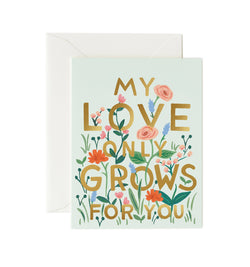 Rifle Paper Co Love Grows Card