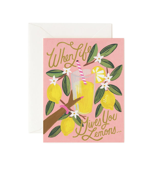 Rifle Paper Co When Life Gives You Lemons Greetings Card