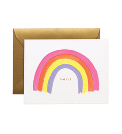 Rifle Paper Co Smile Rainbow Greetings Card