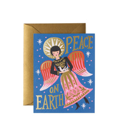 Rifle Paper Co Peace on Earth Angel Card