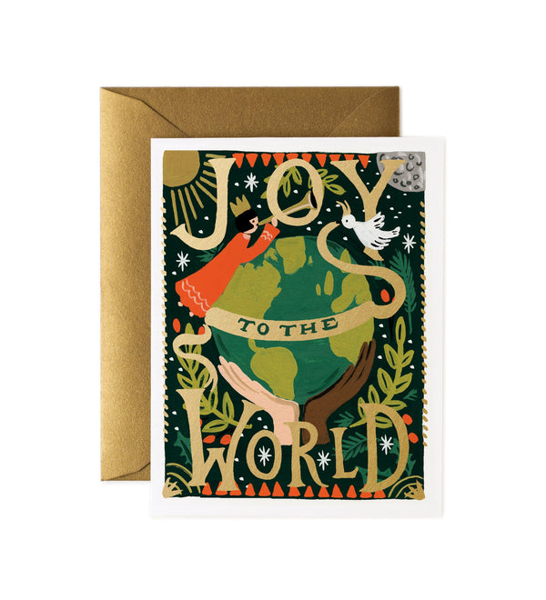 Rifle Paper Co Joy to the World Christmas Card