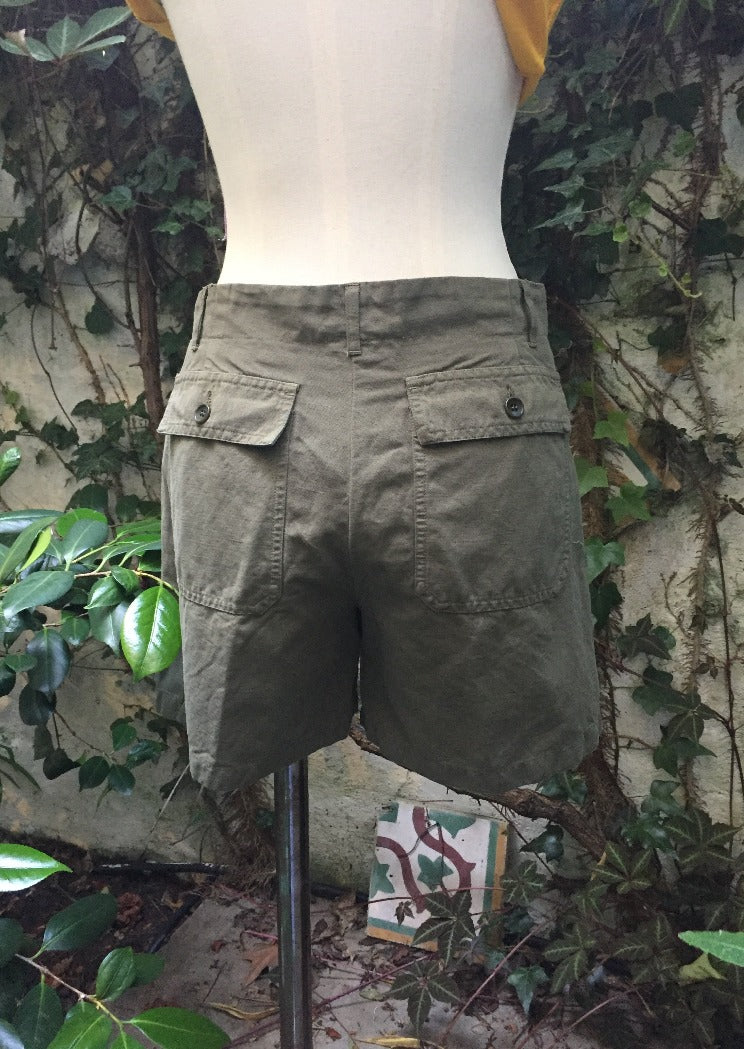 Hartford Sierra Utility shorts in Army Green