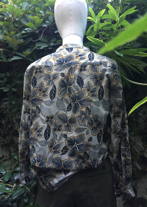 Hartford Carta Floral Print Shirt