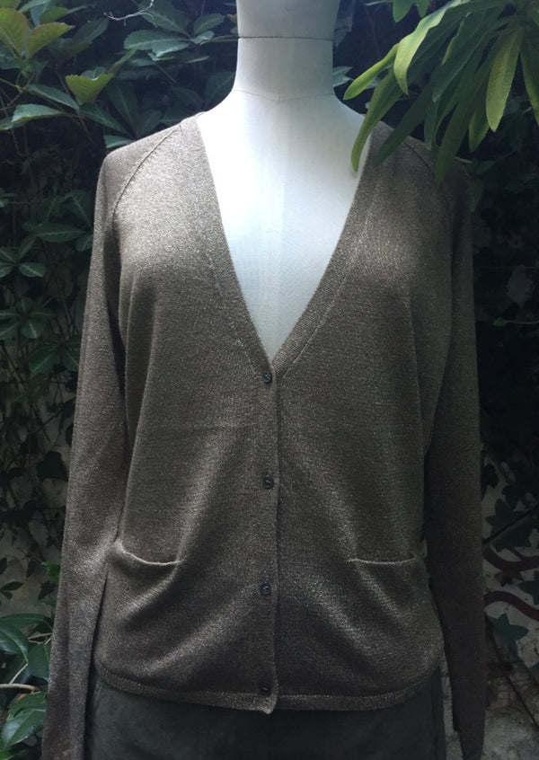 Hartford Monastir Gold Metallic Cardigan