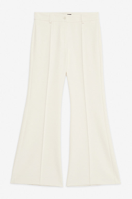 Ottodame cropped and flared tailored trouser in cream