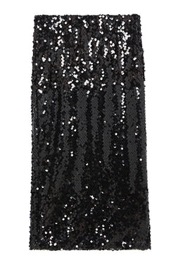 Ottodame black sequin pencil skirt