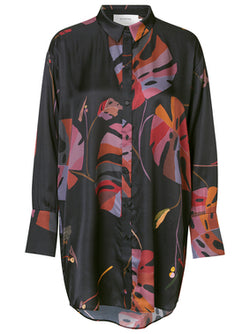 Munthe Handle Black Leaf Print Shirt