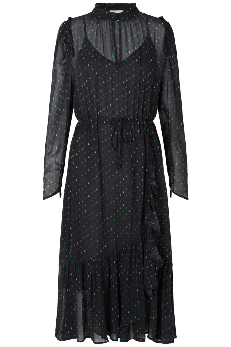 Munthe Tacca Anchor Print Dress in Black www.precious-london.com