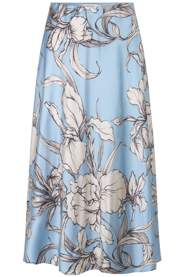 Munthe Tacuba Floral Print Skirt in Ice Blue
