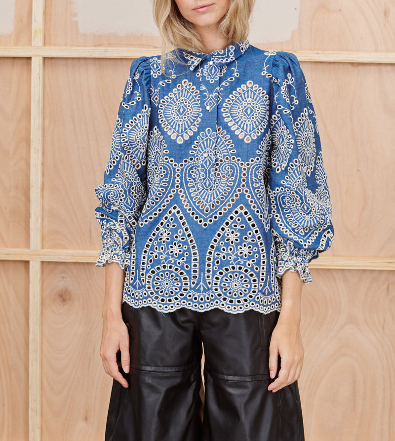 Munthe Think Embroidered Top www.precious-london.com