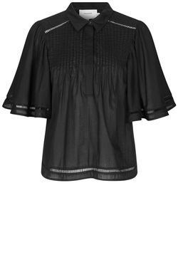 Munthe Thorn Cotton Blouse in Black www.precious-london.com