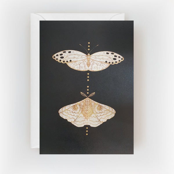 Gold Moths Duo Card