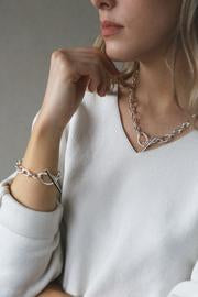 Tutti & Co NE491S Silver Rise Chain Necklace