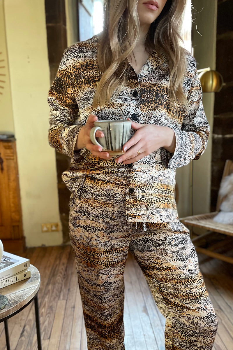 Tutti & Co Nature Print Pyjamas in Natural