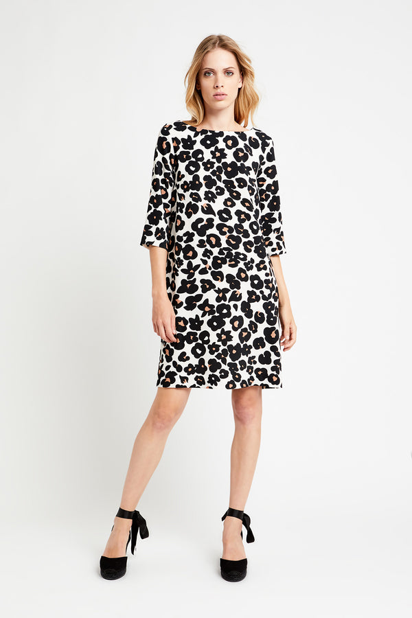 EA3550 Animal Print Shift Dress